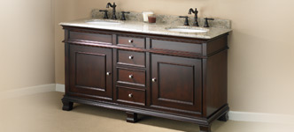 "Manhattan 60"" Double-Sink Vanity by Mission Hills"