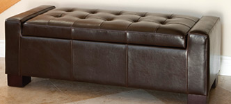 Ravello Bonded Leather Storage Ottoman