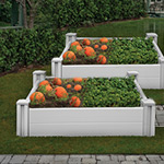 White Vinyl Raised Garden Bed 2-Pack
