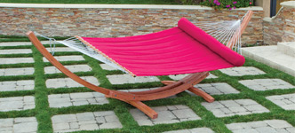 Big Daddy Deluxe Sunbrella Arc Wood Jockey Red Hammock