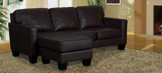 Patterson Bonded Leather Sectional