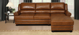 Modena Top Grain Leather Sectional