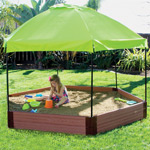 Frame It All Hexagon Sandbox with Canopy