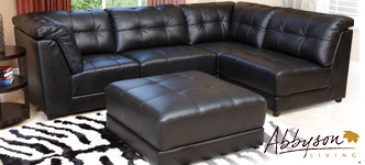 Emily Top Grain Leather Modular Sectional