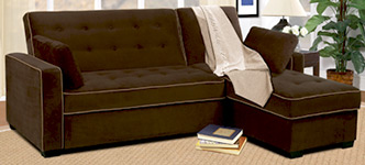 Jacqueline Sofa Chaise Convertible Bed