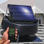15-Watt Solar Attic Fan with Solar Controller by U.S. Sunlight