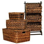 Sofia and Sam Abaca Nesting Baskets, Storage Cubby OR Serving Trays