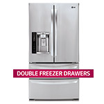 LG 27 Cu. Ft. Ultra-Capacity 4-Door French Refrigerator
