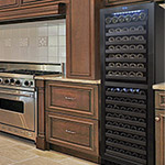 Vinotemp 142-Bottle Dual Zone Wine Cooler with Touch Screen Controls