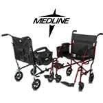 ultralight freedom ii transportwheelchair by medline. Black Bedroom Furniture Sets. Home Design Ideas