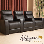 Grand 3-Piece Top Grain Leather Power Media Recliners