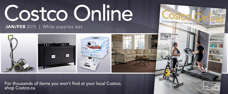 Costco Online Jan Feb 2015 While Supplies Last