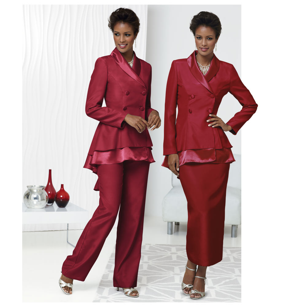 Masseys Fishtail 3-Piece Wardrober Red Suits 16W