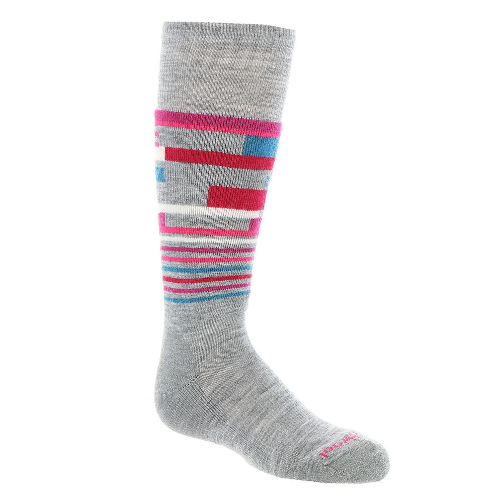 SmartWool Girls' Wintersport Stripe Socks (Toddler-Youth) 821922LGYSML