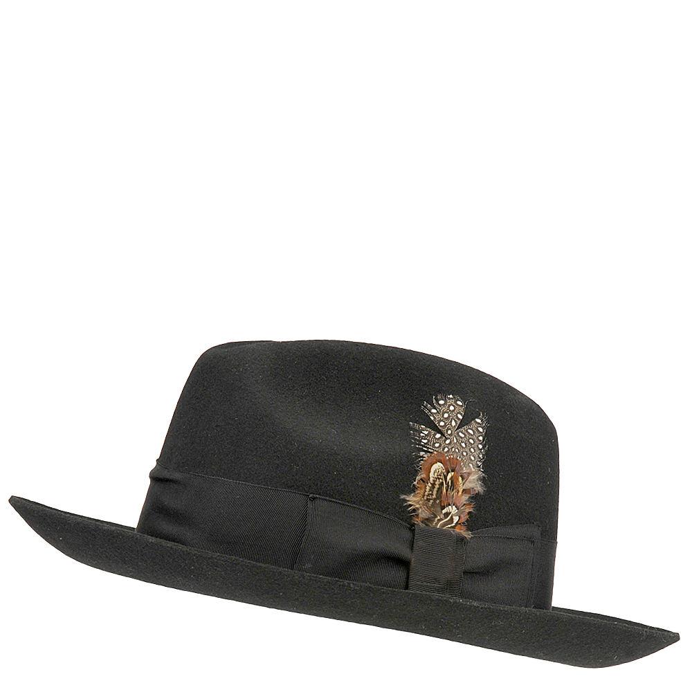 Stacy Adams Men's Fedora Wool Felt Hat Black Hats XL