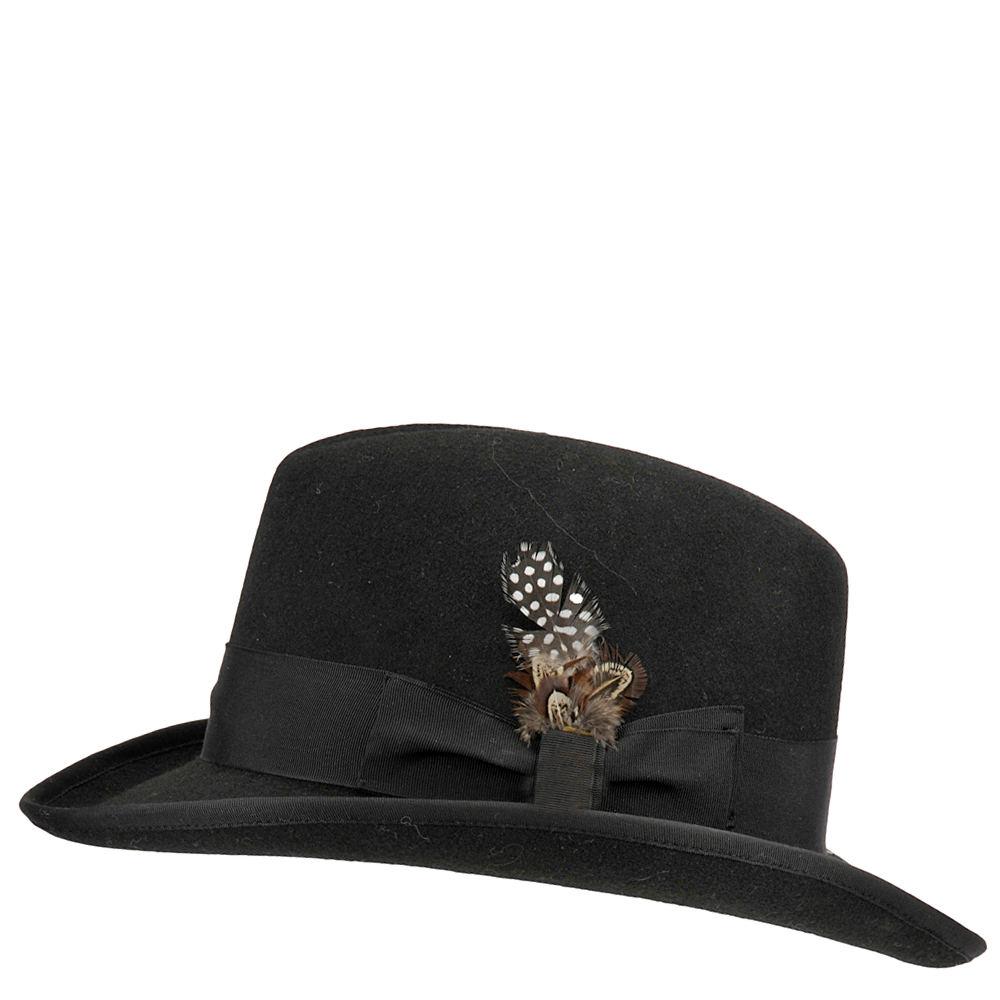 Stacy Adams Men's Wool Felt Hat Black Hats XL
