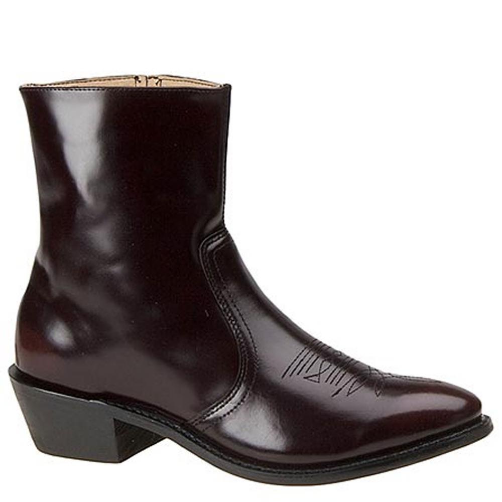 "Leather Classics Men's 7-1/2"" Western Dress Burgundy Boot..."