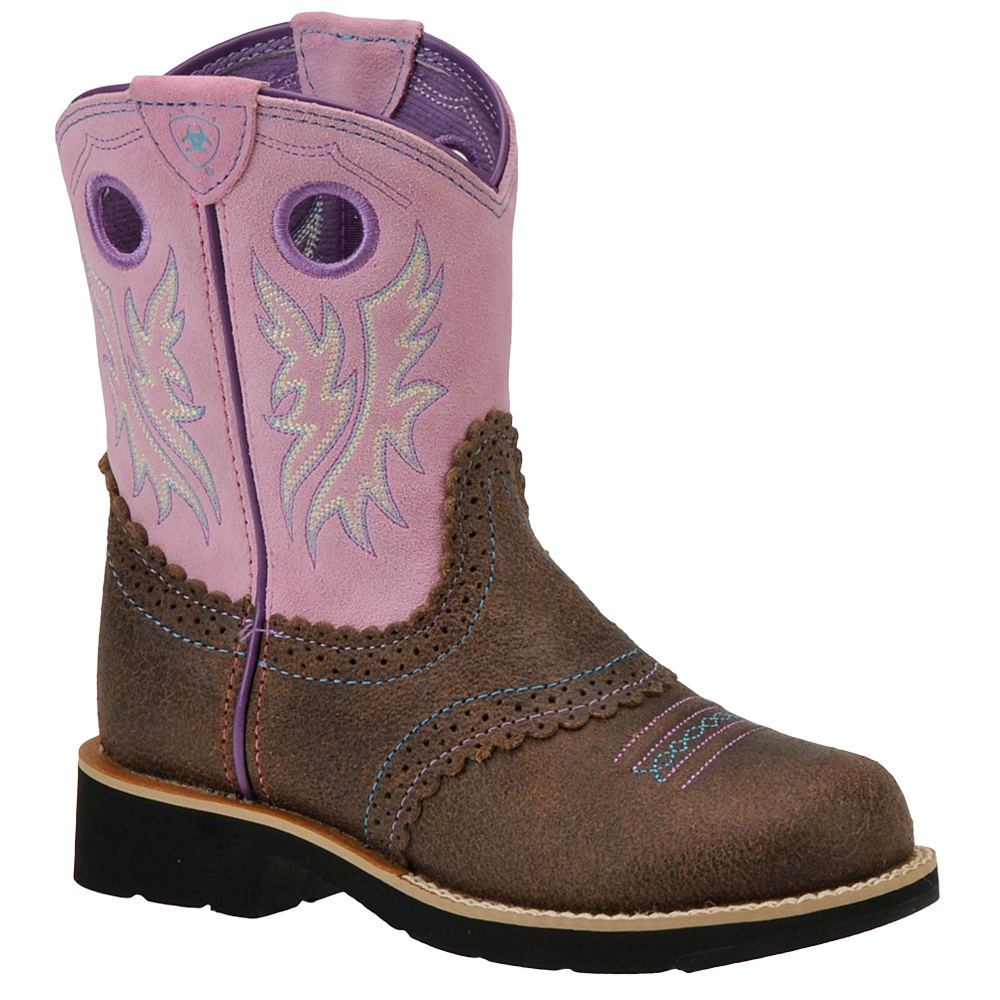 Ariat Fatbaby Cowgirl Girls' Toddler-Youth Pink Boot 6 Yo...