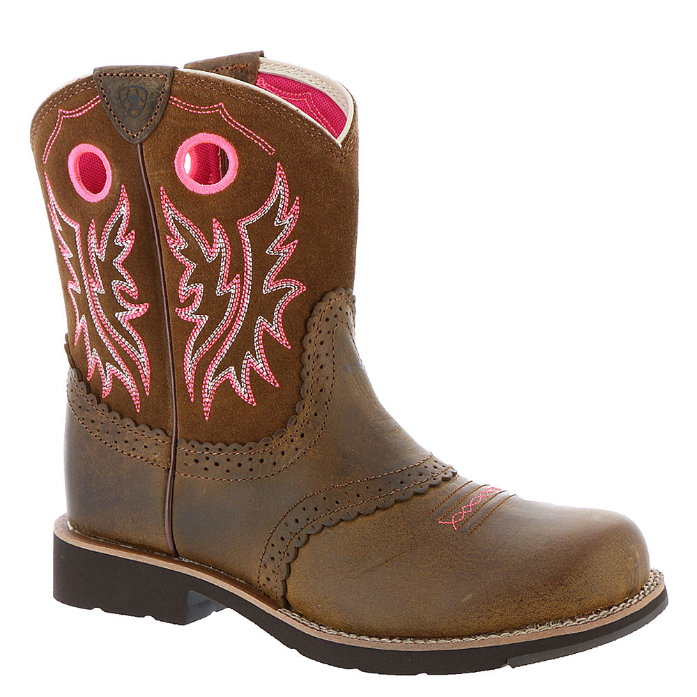 Ariat Fatbaby Cowgirl Girls' Toddler-Youth Brown Boot 5 Y...