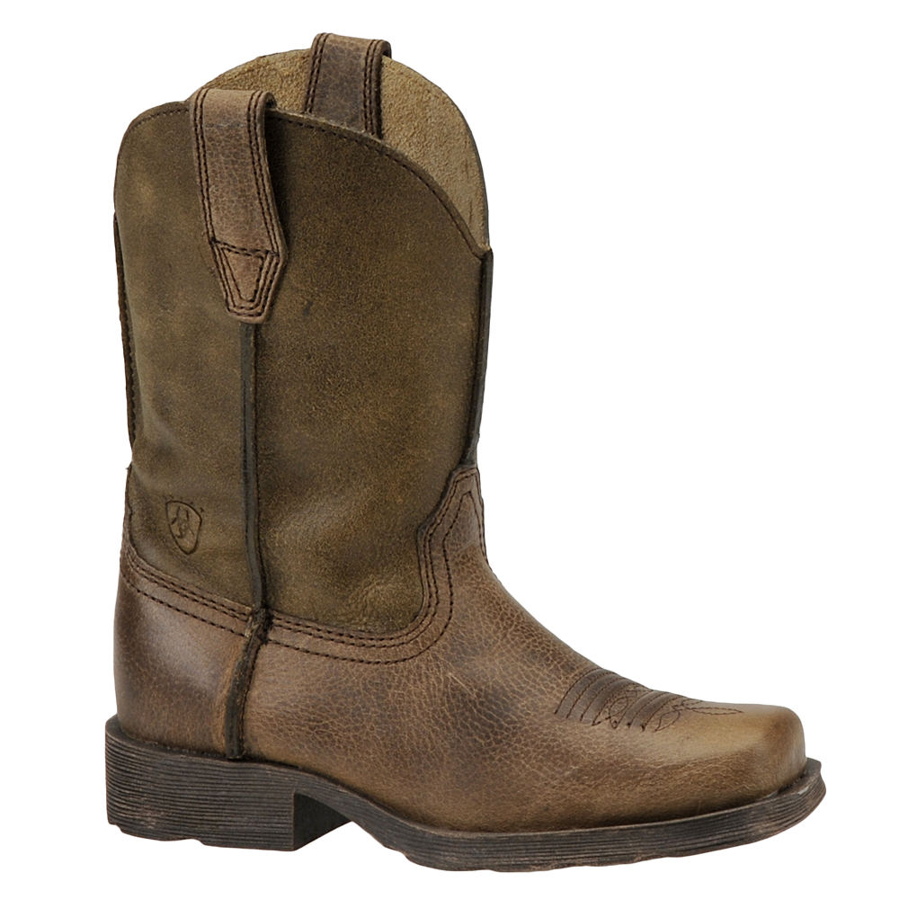 Ariat Boys' Rambler Toddler-Youth Brown Boot 4 Youth M