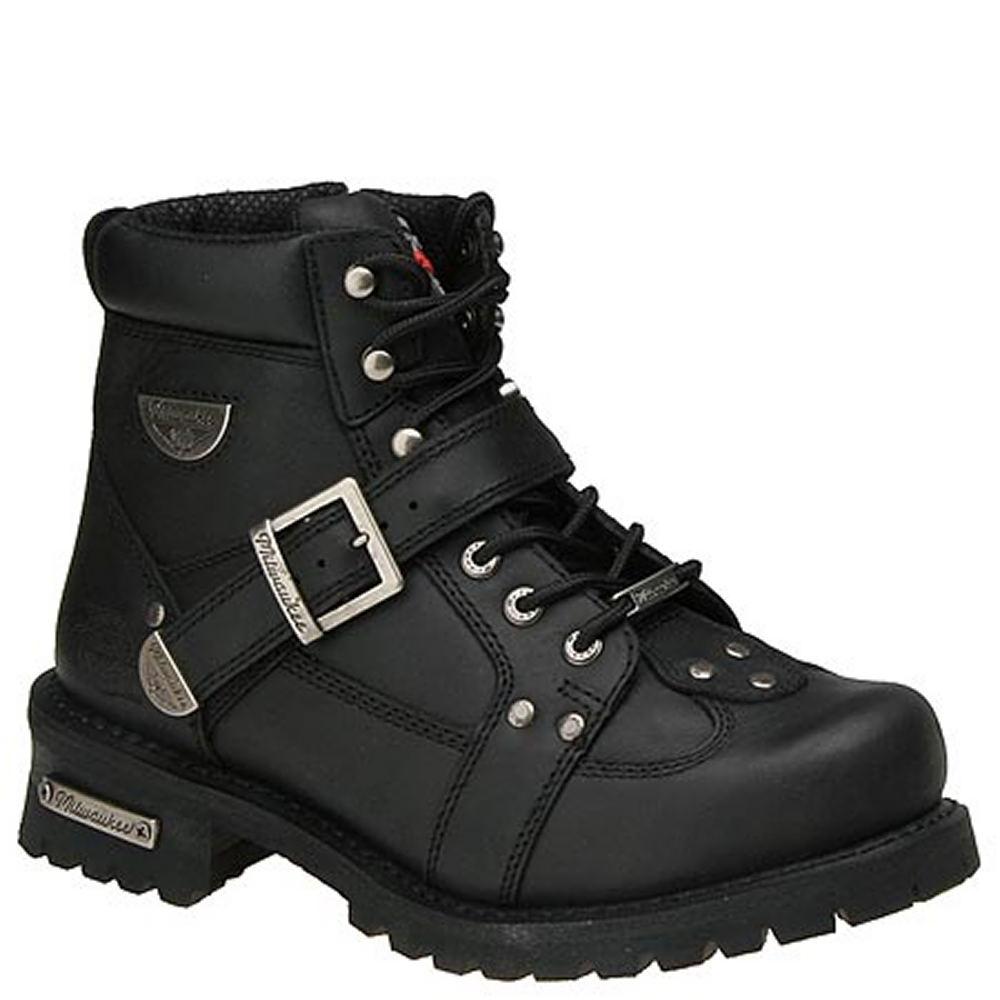 """Milwaukee Men's Road Captain 6"""" Black Boot 8 D 601233BLK080D"""