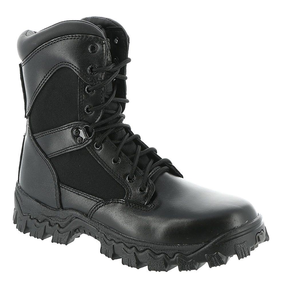 "Rocky AlphaForce 8"" Men's Black Boot 7 M"