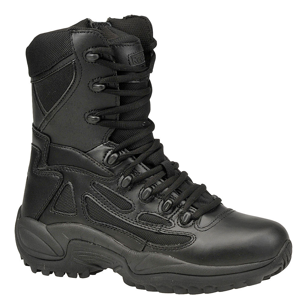 "Reebok Work Men's 8"" Side Zip Rapid Response Soft Toe Black Boot 13 M 670141BLK130M"