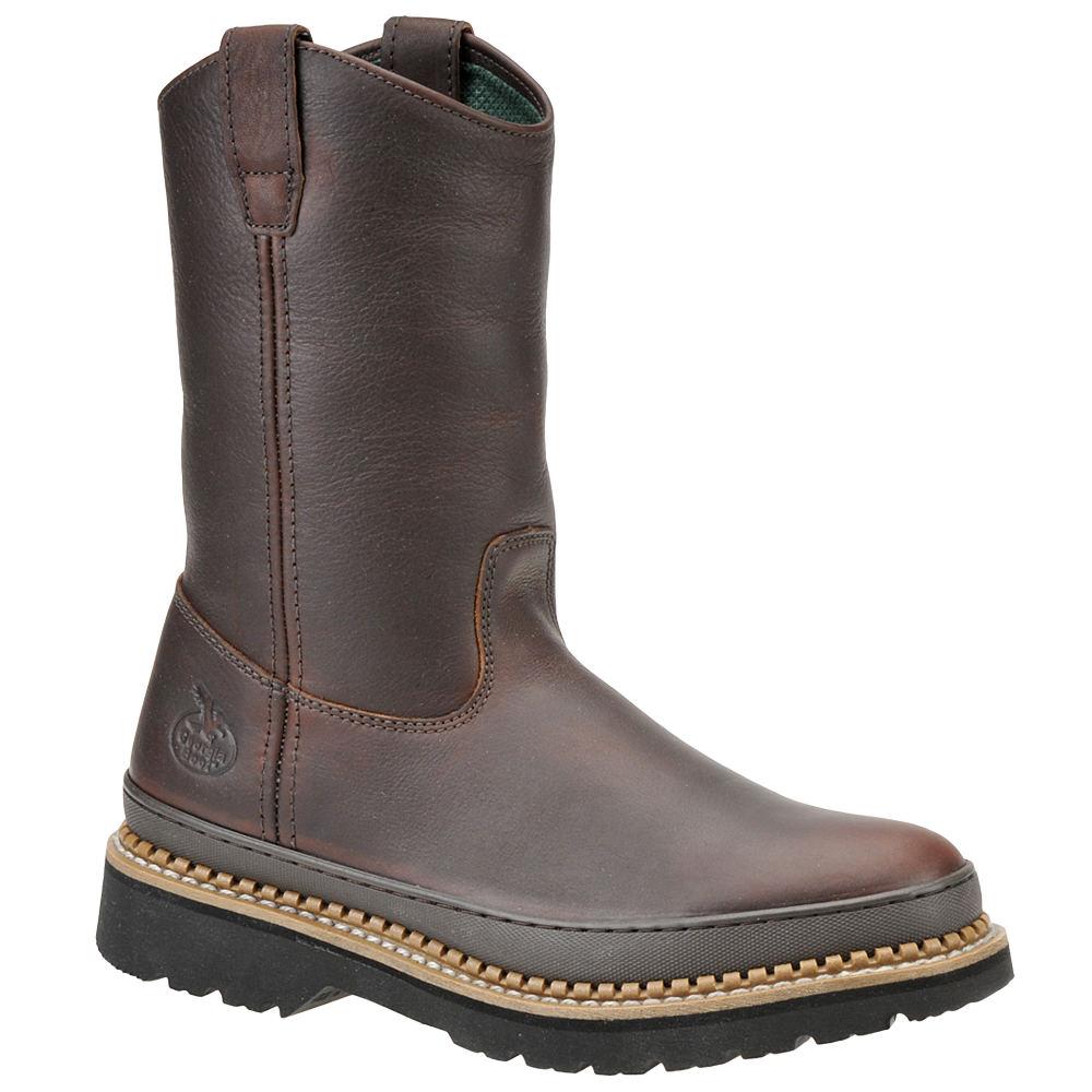 "Georgia Boot Men's Giant 10"" Wellington Steel Toe Brown B..."
