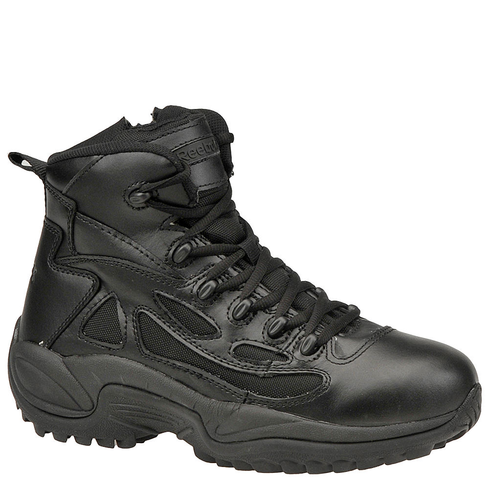 "Reebok Work Men's 6"" Side Zip Rapid Response Soft Toe Black Boot 11.5 M 670140BLK115M"