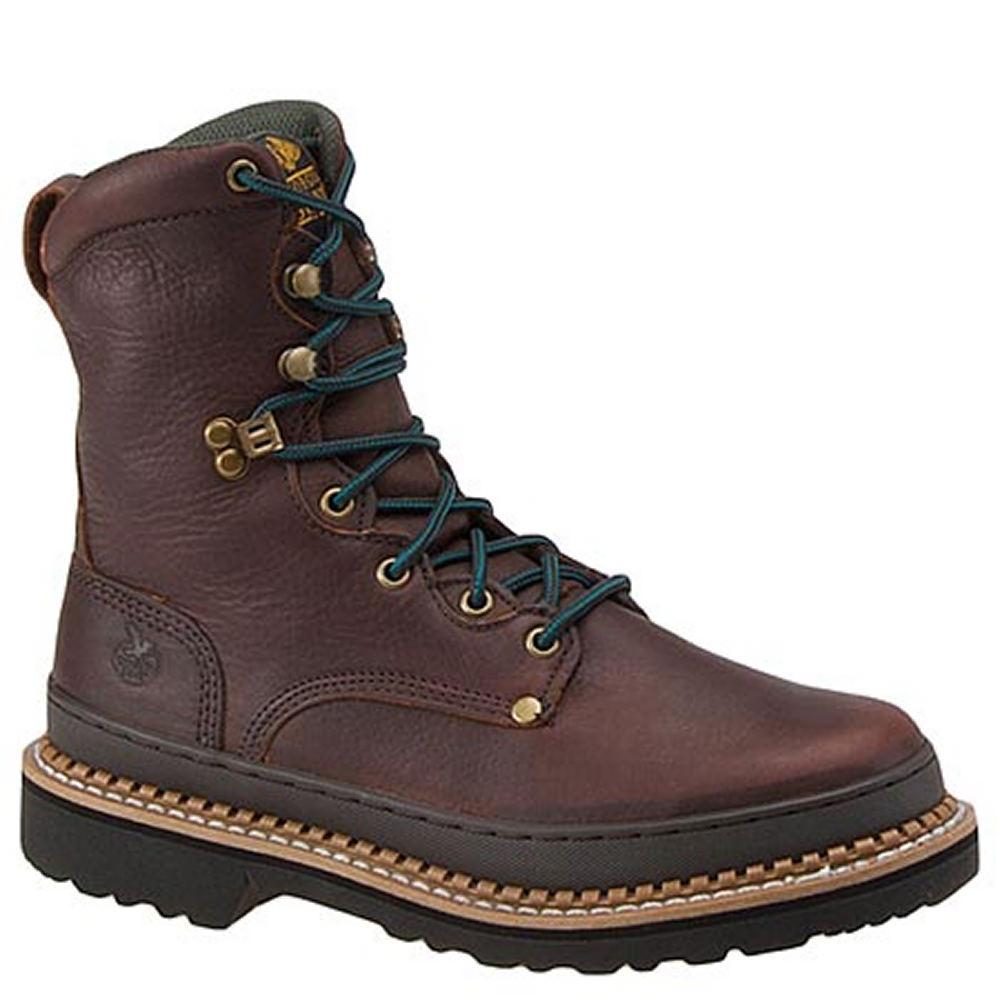 "Georgia Boot Men's Georgia Giant 8"" Steel Toe Brown Boot 8 D"