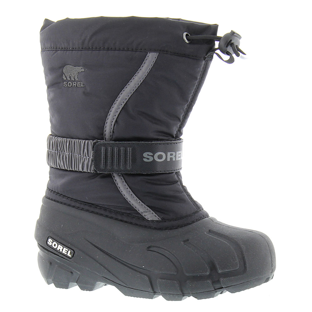 Sorel Flurry TP Boys' Toddler-Youth Black Boot 1 Youth M