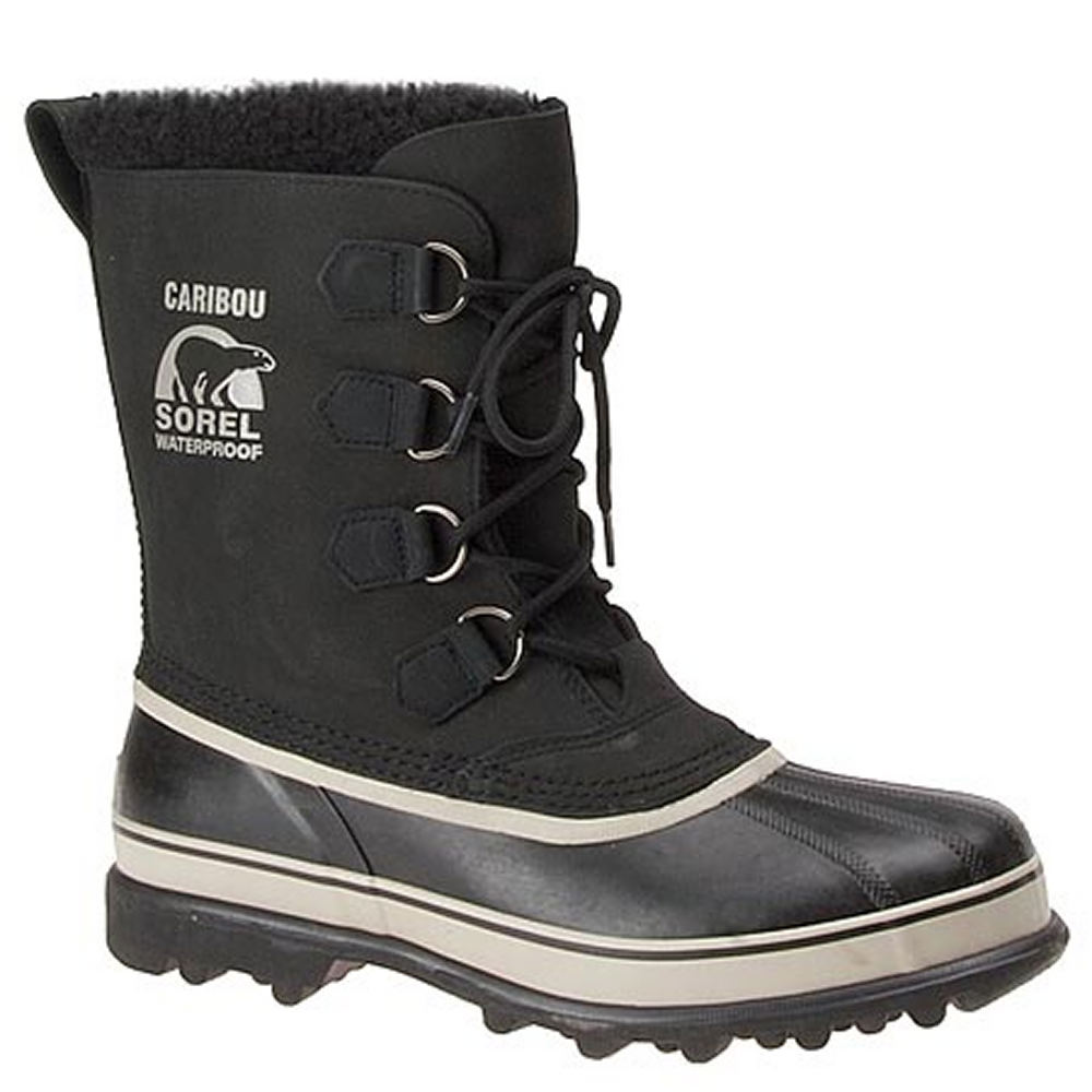 "Sorel Men's Caribou 10"" Black Boot 10 M"