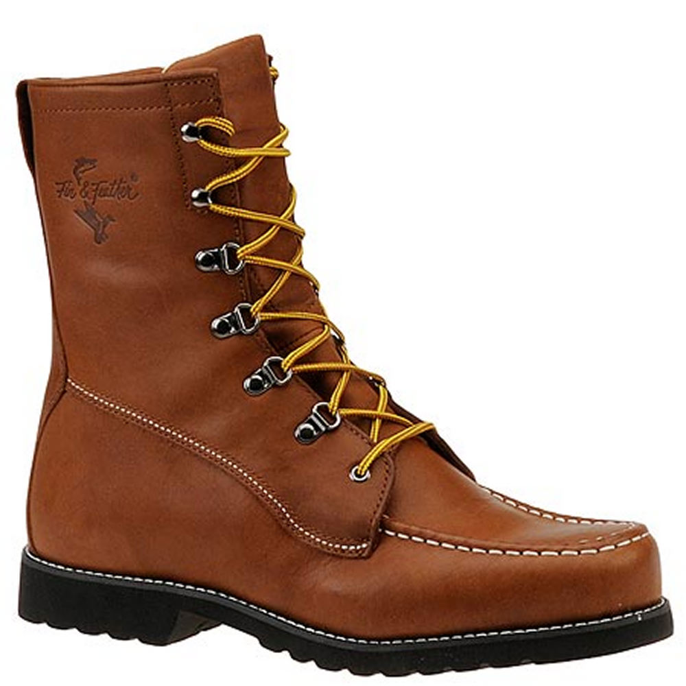 "Fin & Feather Men's 9"" Waterproof Work Brown Boot 6 E"