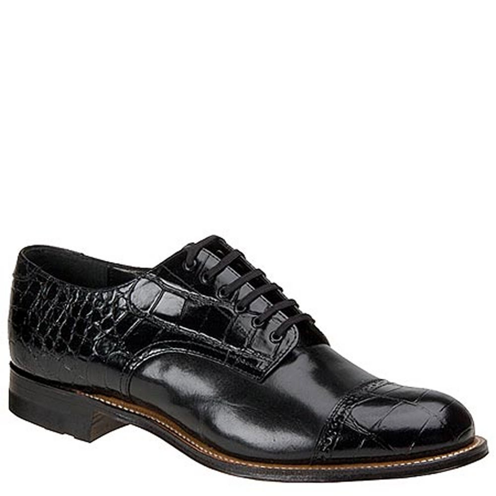 Stacy Adams Madison Croco Oxford Men's Black Oxford 11.5 E2 606077BLK115E2