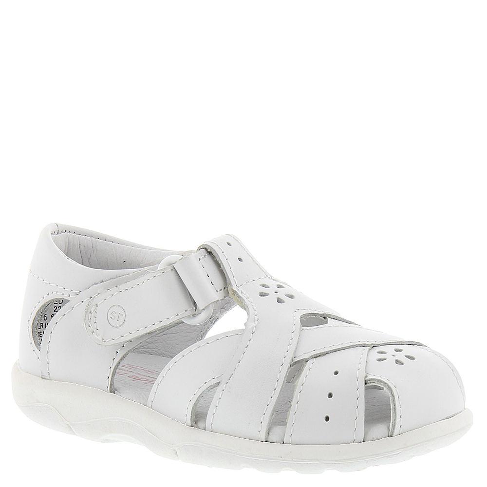 Stride Rite SRT Tulip Girls' Infant-Toddler White Sandal ...