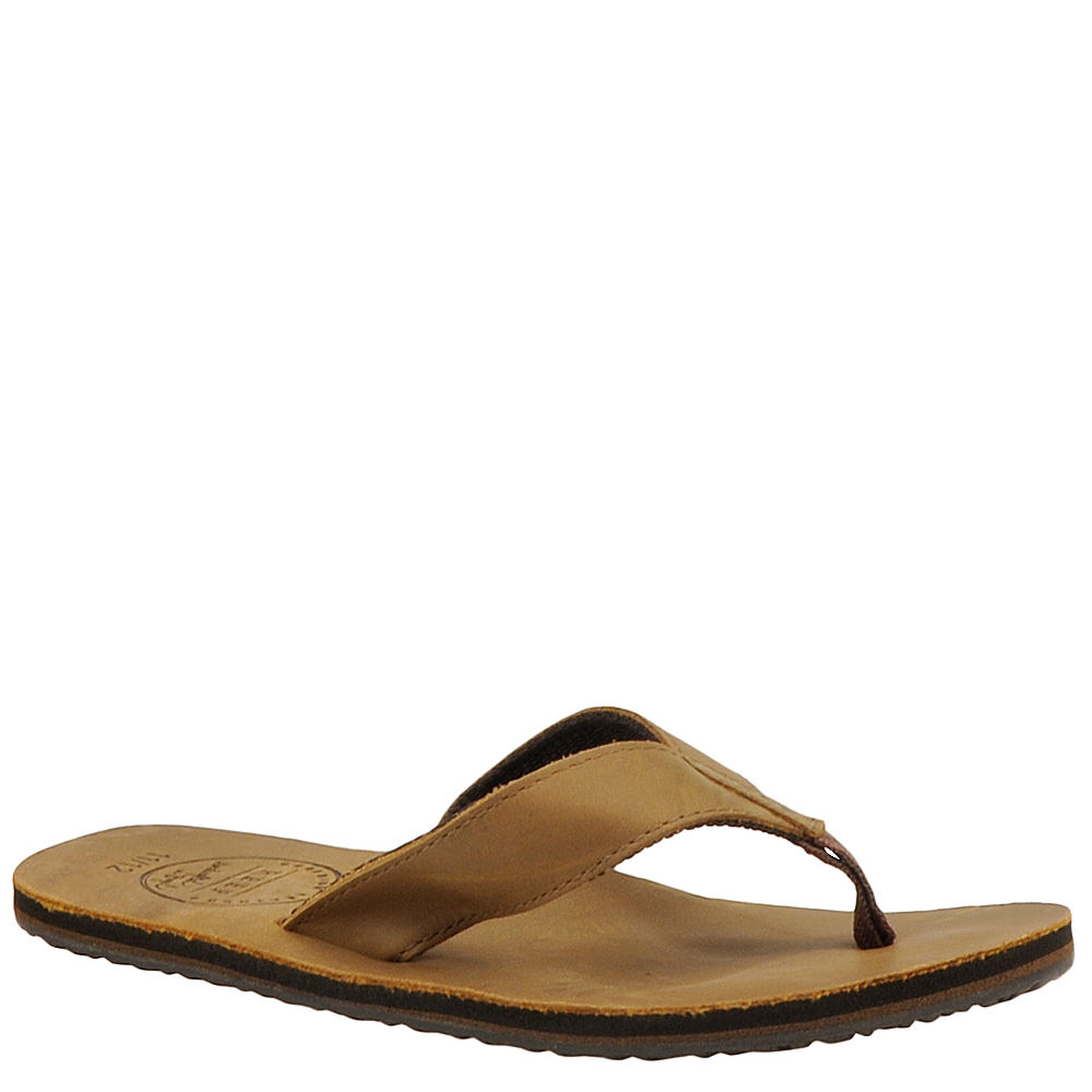 Reef Boys' Grom Leather Smoothy Toddler-Youth Brown Sanda...