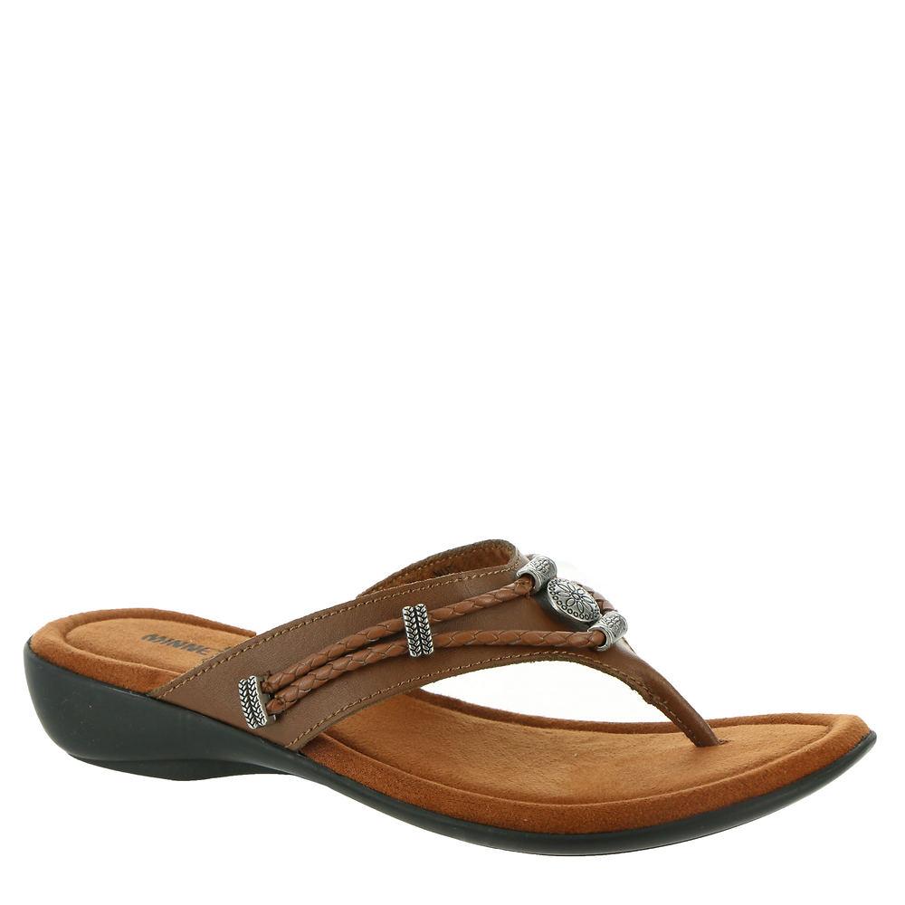 Minnetonka Silverthorne Thong Women's Brown Sandal 6 W