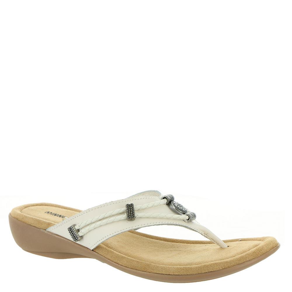 Minnetonka Silverthorne Thong Women's White Sandal 7 N