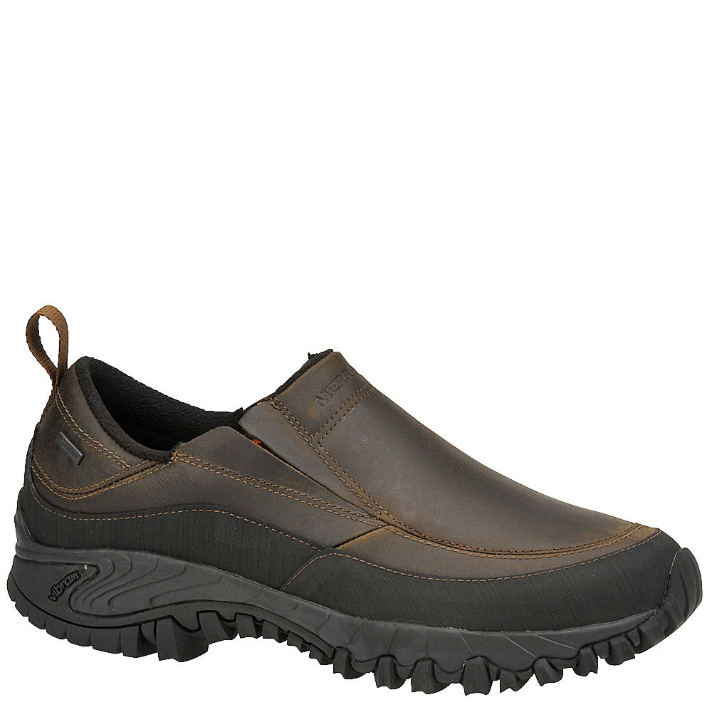 Merrell Men's Shiver Moc 2 Waterproof Slip-On Brown Slip ...