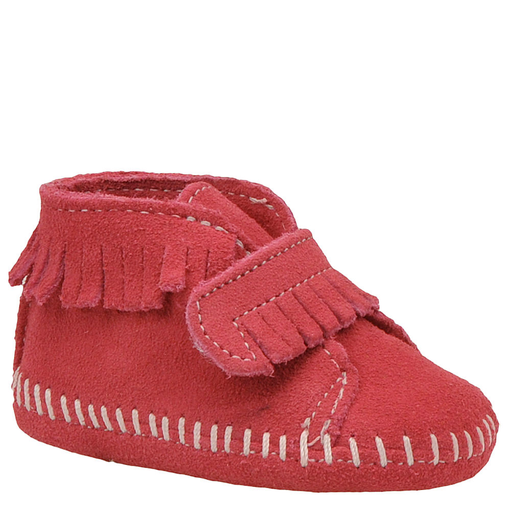 Minnetonka Girls' Hook-And-Loop Front Strap Bootie Infant...