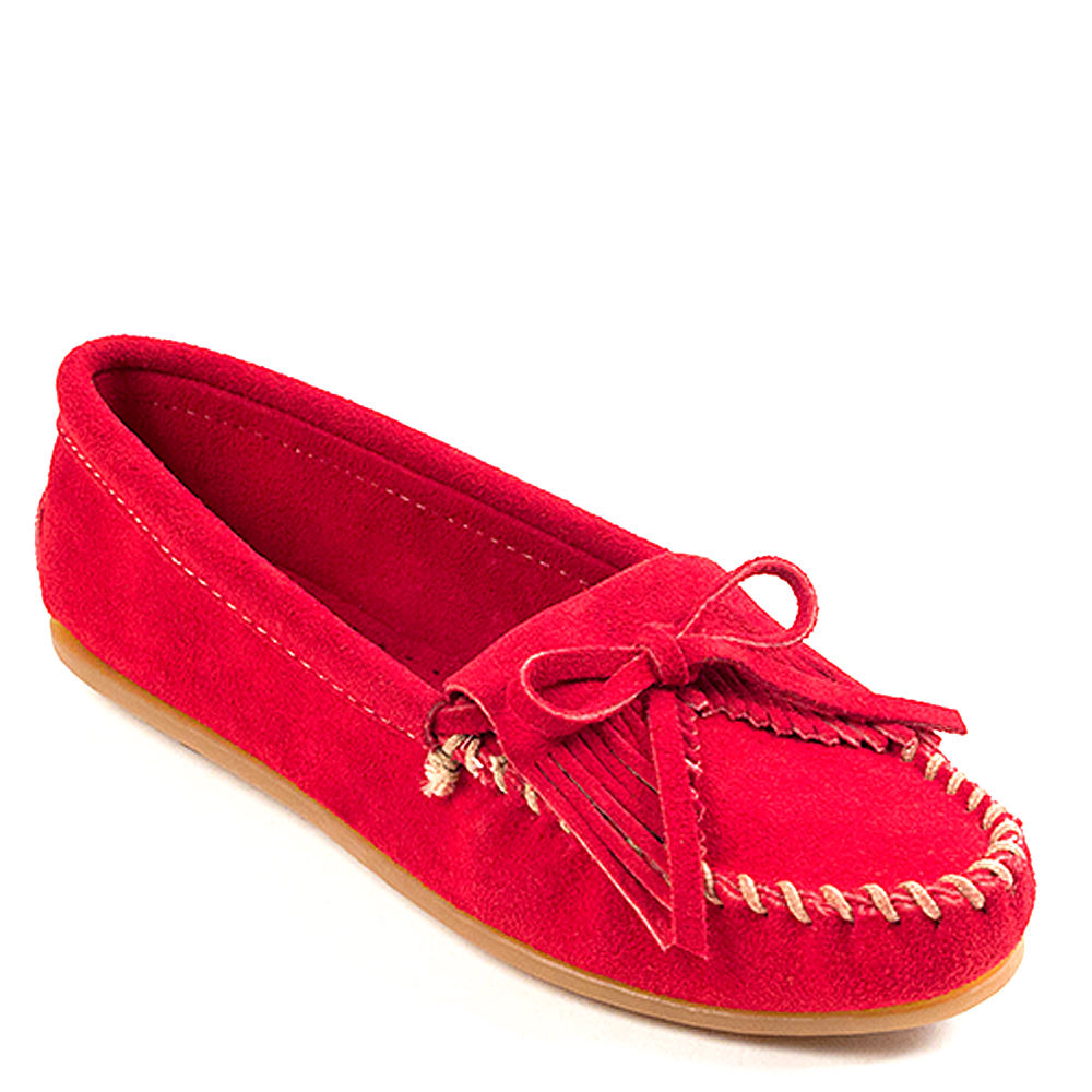 Minnetonka KILTY MOC Women's Red Slip On 9 M