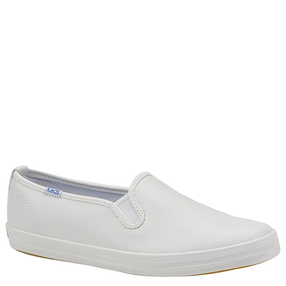 Keds Women's Champion Leather Slip-On White Slip On 6 A2