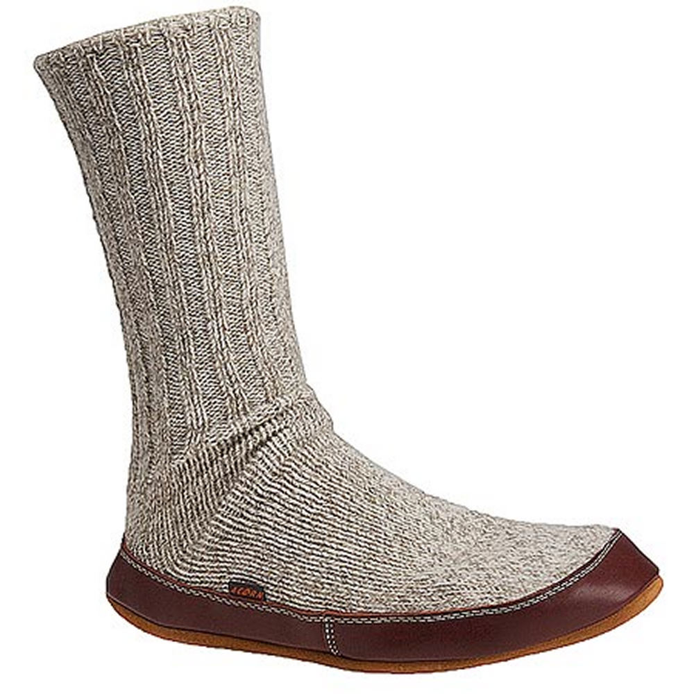 Acorn Slipper Sock Grey Slipper M M