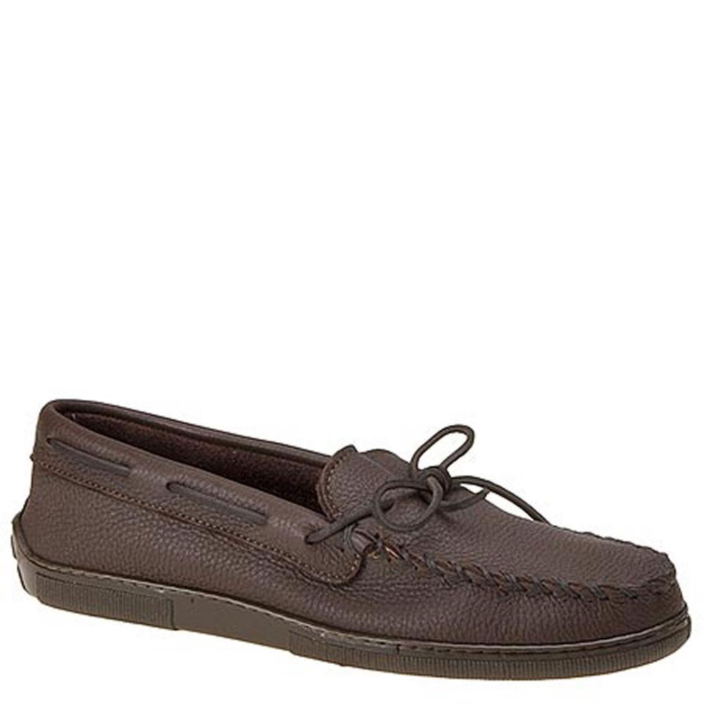 Minnetonka Men's Moosehide Classic Brown Slipper 7 D