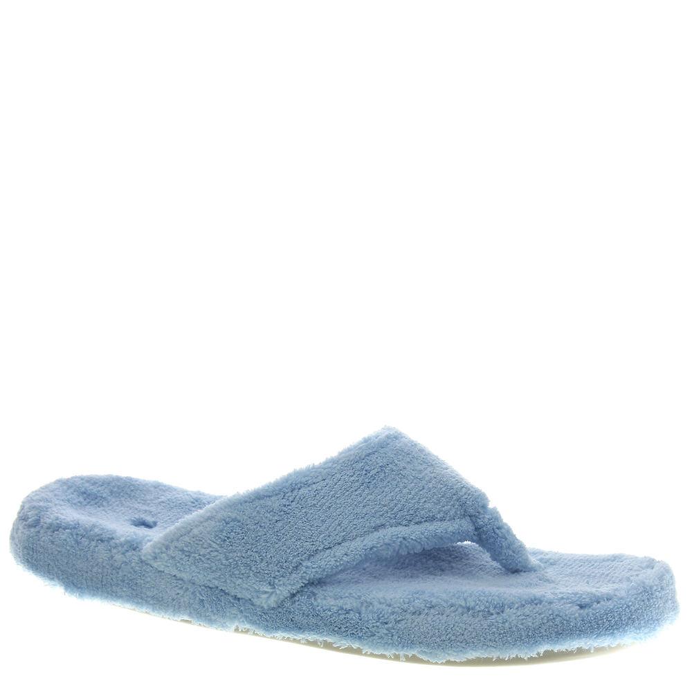 Acorn Women's Spa Thong Slipper,Turquoise,Small/5-6 M US