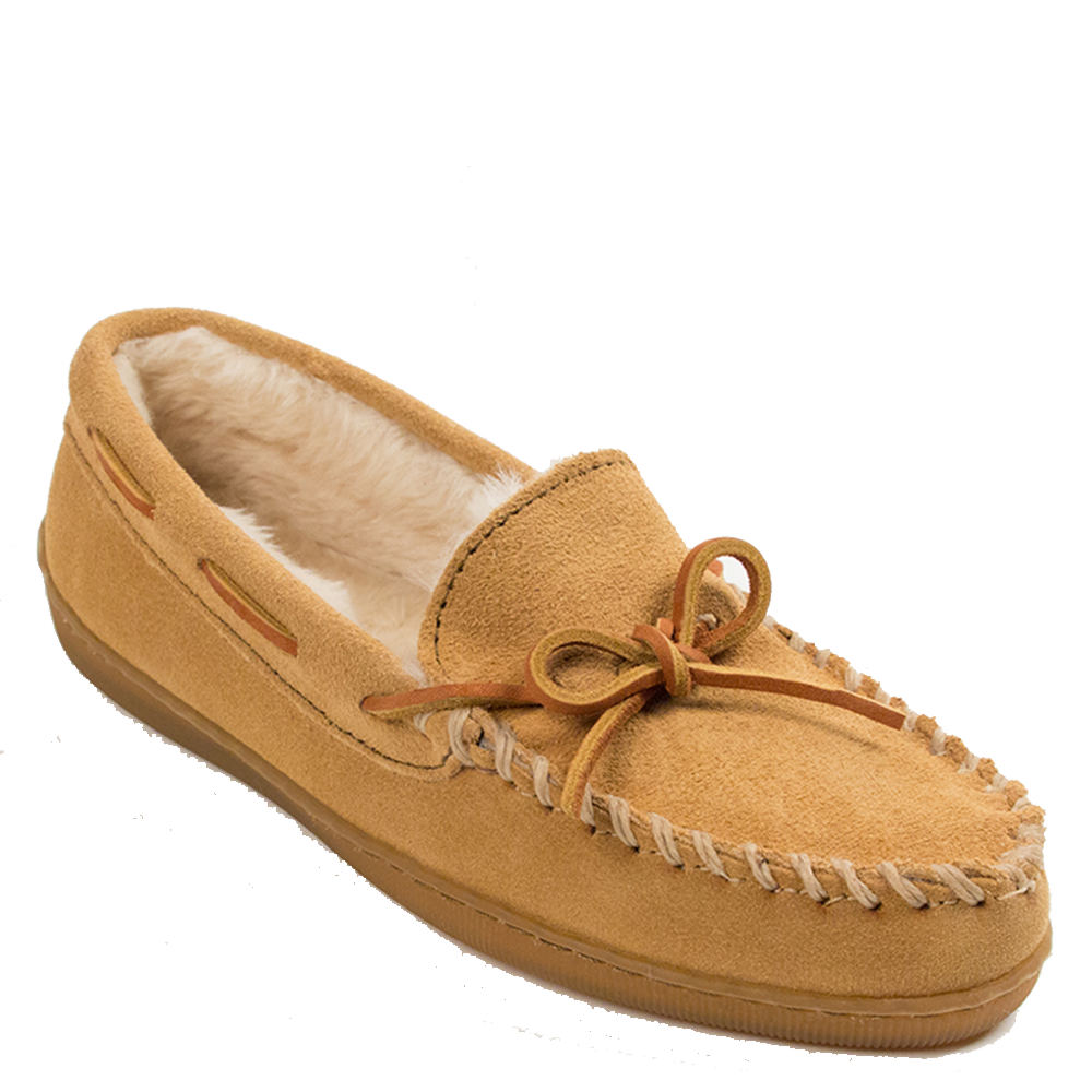 Minnetonka Women's Moccasin Tan Slipper 10 B