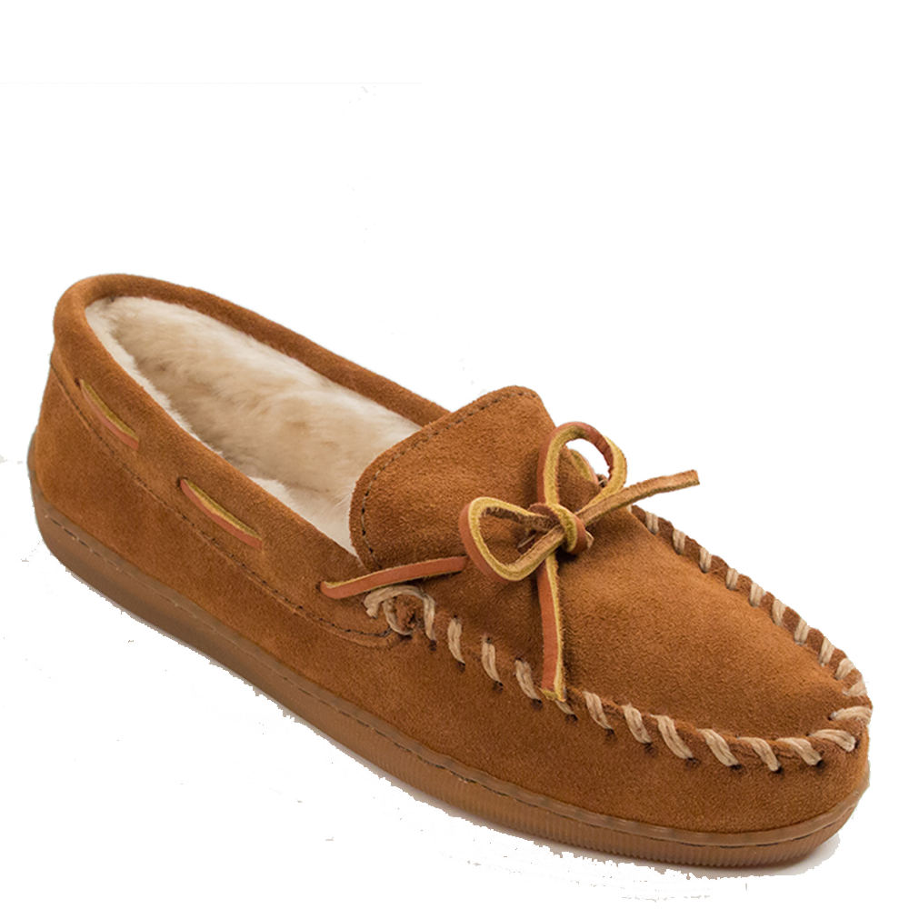 Minnetonka Women's Moccasin Brown Slipper 5 B