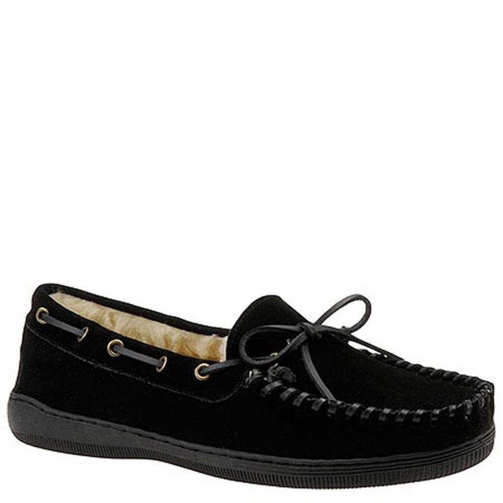 SLIPPERS INTERNATIONAL Men's Handsewn Suede Leather Black...