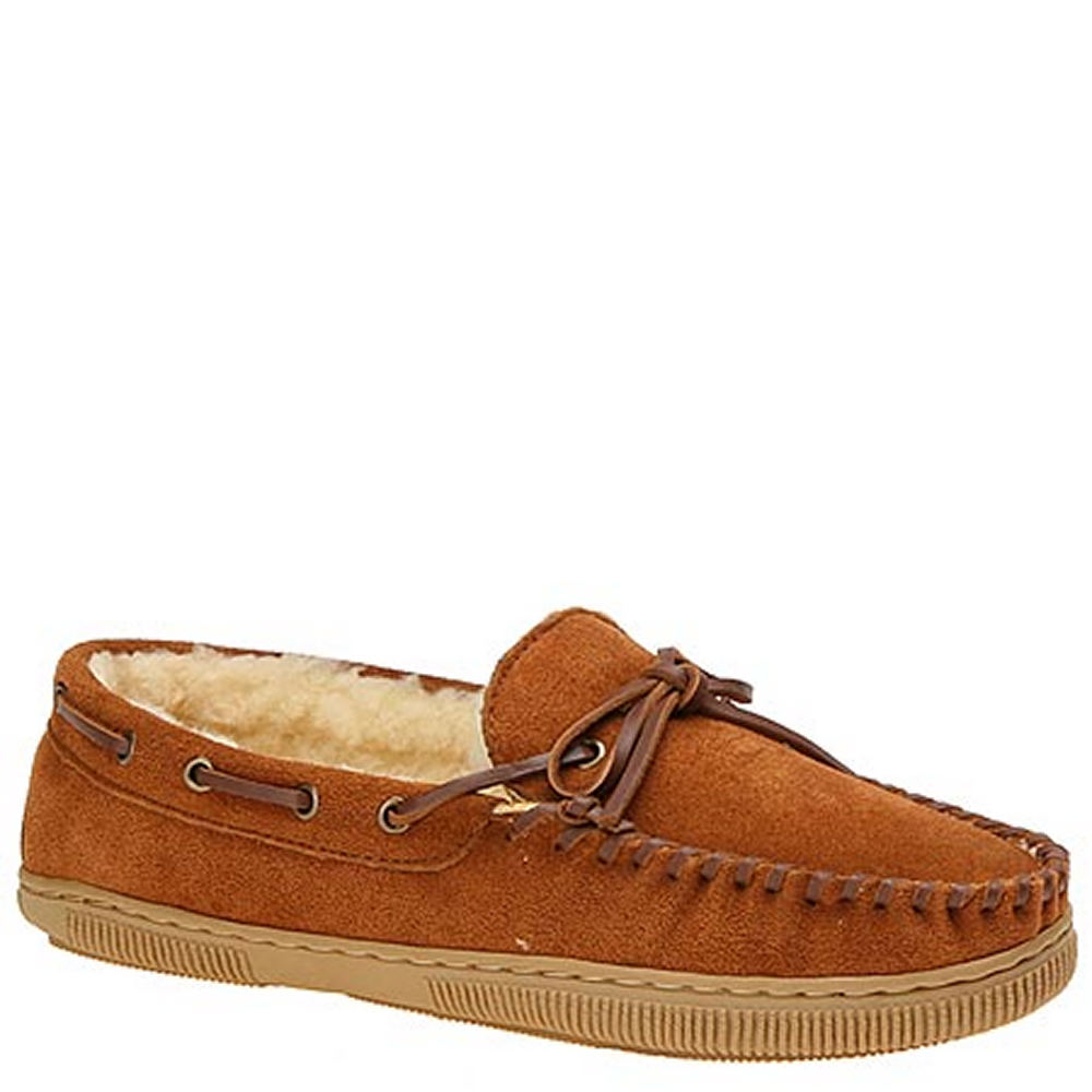 SLIPPERS INTERNATIONAL Men's Handsewn Suede Leather Brown...