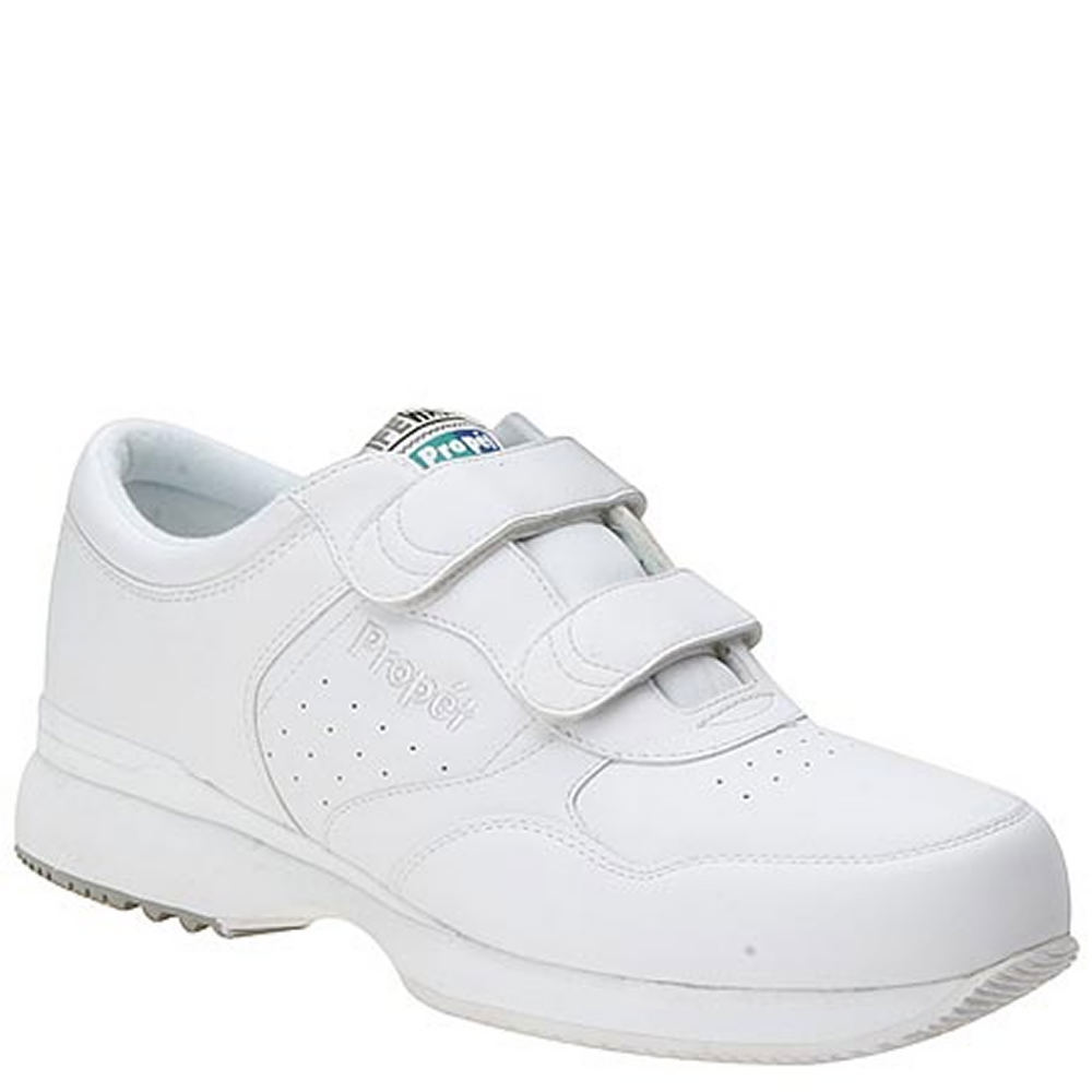 Propét Men's Life Walker Shoe White Walking 8.5 D